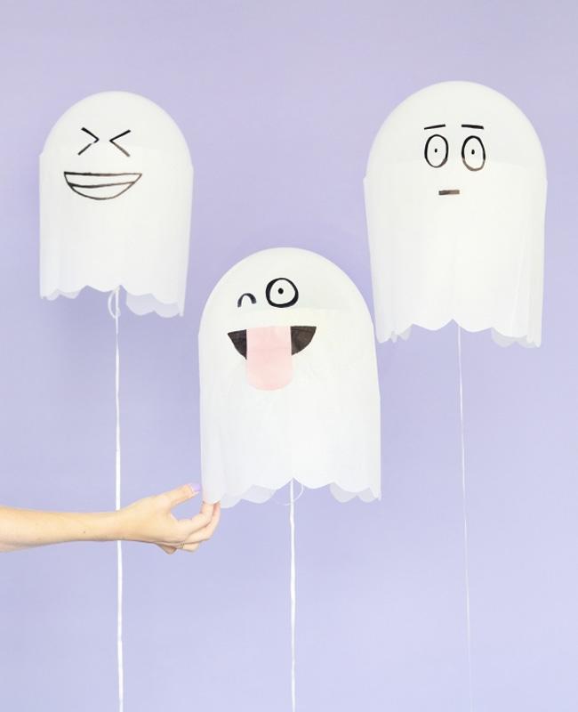 ballon fantôme papier deco halloween