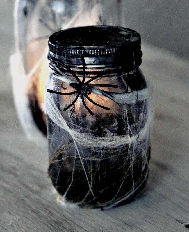 bocal araignée vernis halloween diy