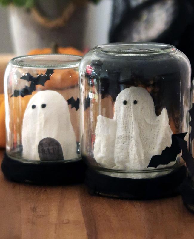 bocal fantôme halloween