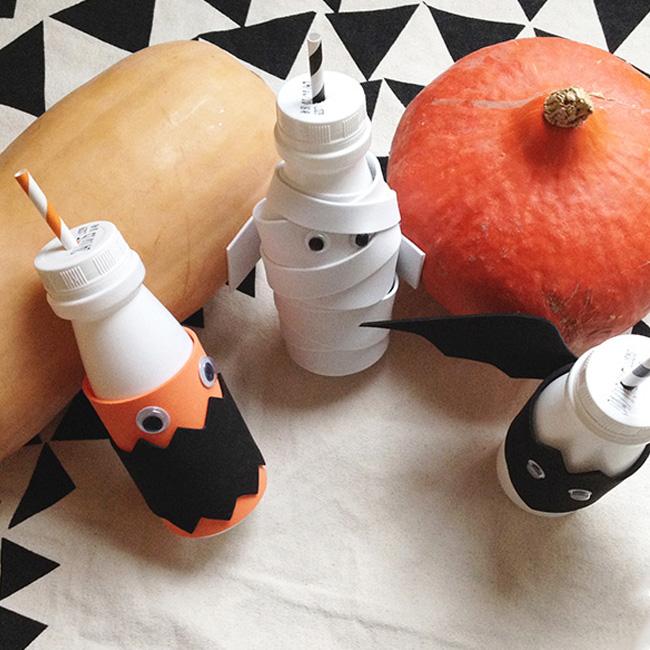 bouteille de lait diy halloween enfant