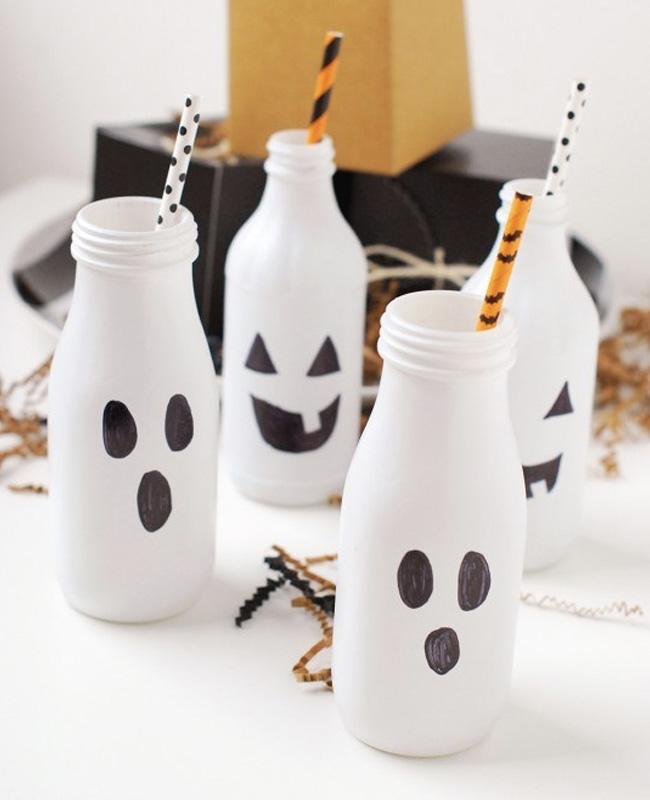 bouteille lait fantôme halloween