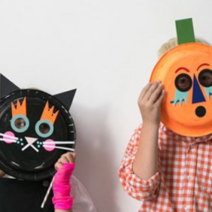 citrouille halloween assiette en carton