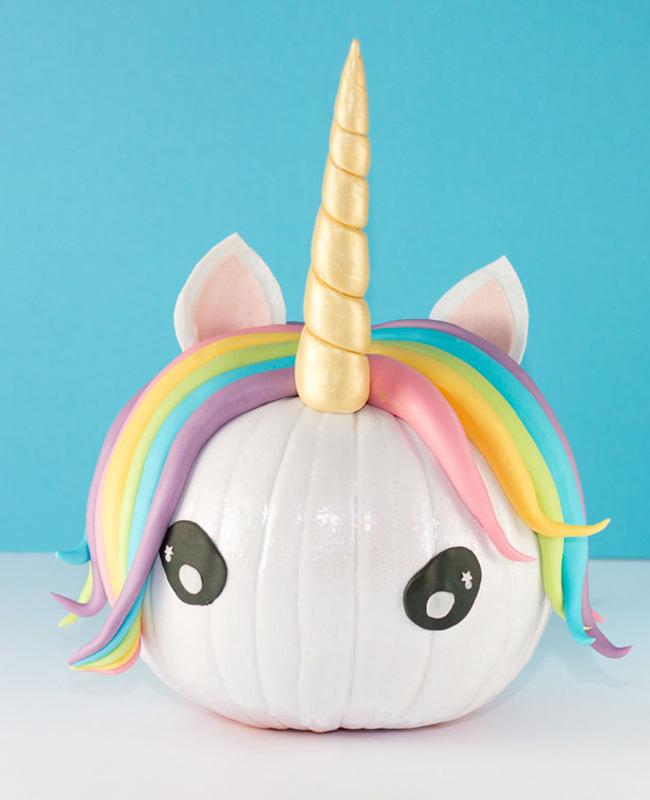 citrouille licorne pate fimo diy halloween