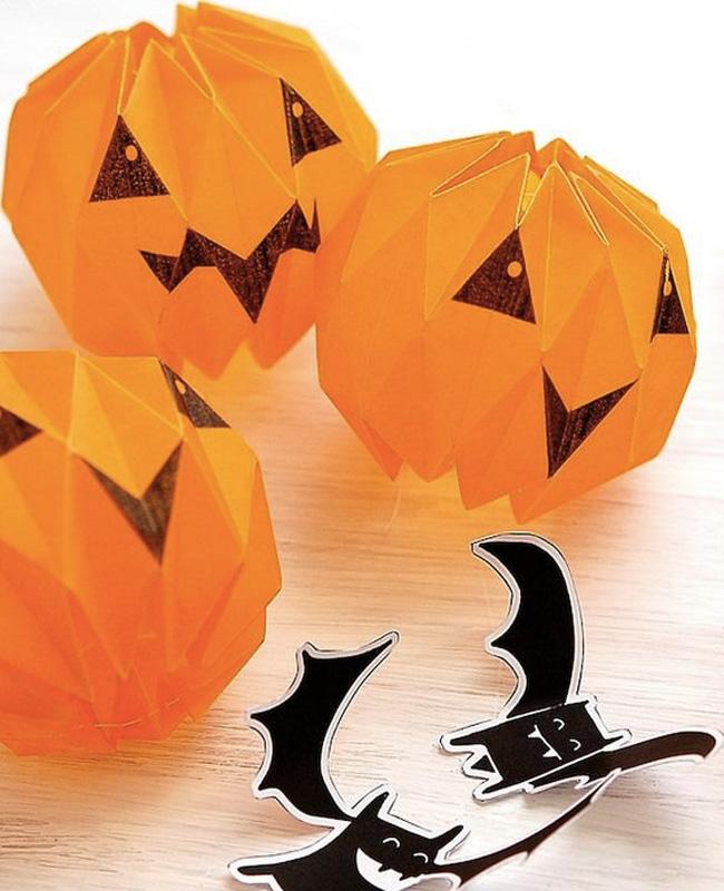 citrouille origami halloween fait maison
