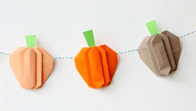 citrouille origami halloween