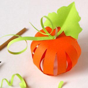 citrouille en papier halloween