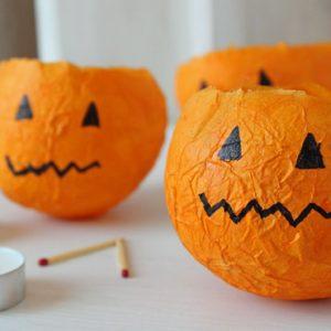 tuto citrouille papier mâché halloween