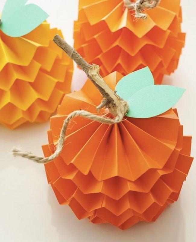 citrouille style origami halloween fait maison