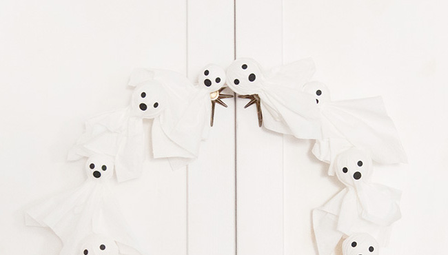 couronne porte Halloween diy