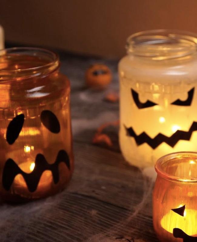 deco bocal lanterne diy halloween