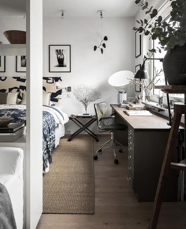 deco bureau scandinave vintage chambre