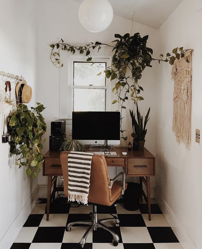 deco bureau scandinave vintage petite espace