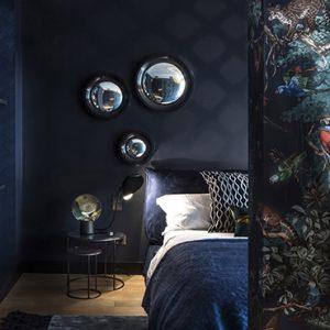 deco chambre adulte bleu nuit