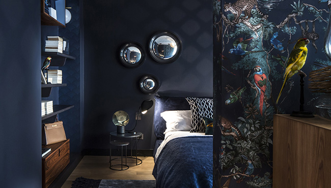 deco chambre bleu nuit