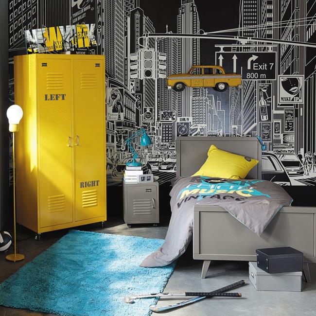 deco chambre ado industriel new york