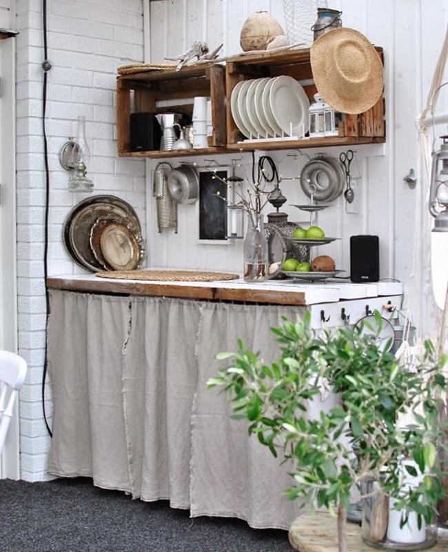 deco cuisine campagne industrielle caisse bois