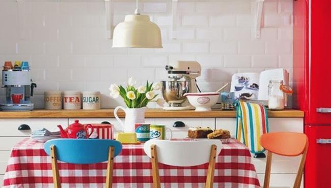 deco cuisine rouge blanc