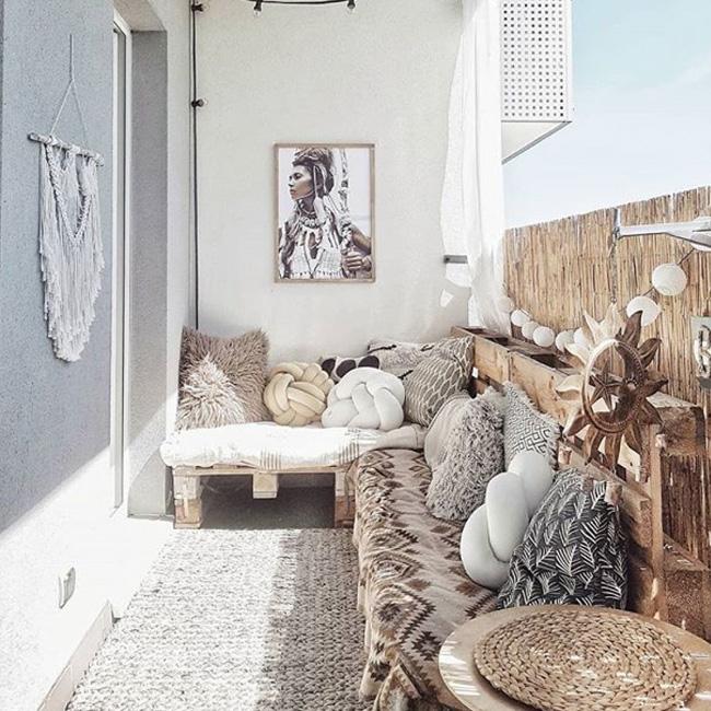 deco petit balcon hiver lit palette