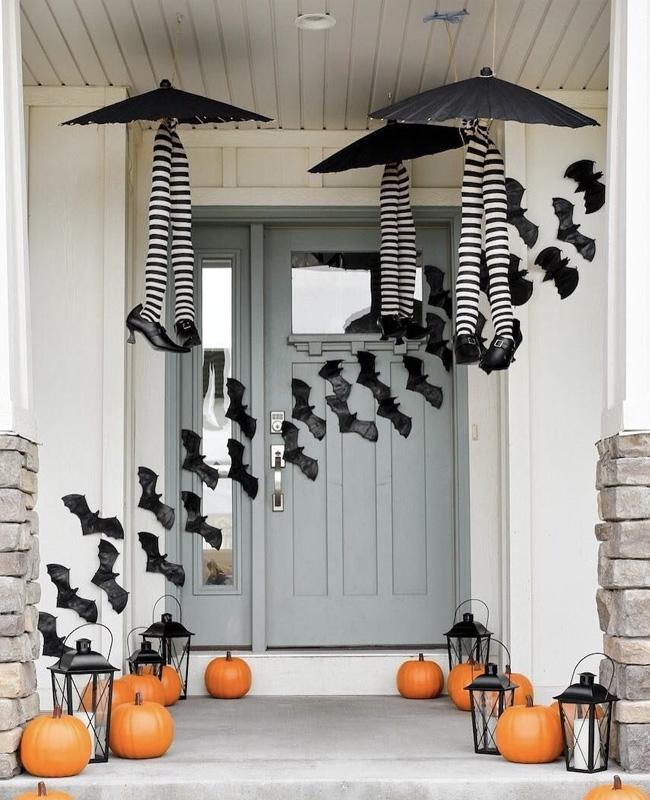 deco porte halloween pinterest chauve souris sorcière