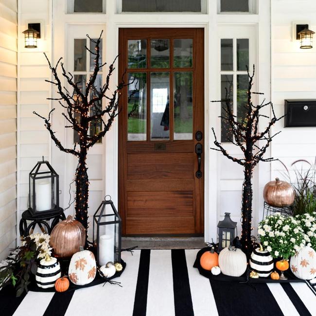 deco porte halloween pinterest chic