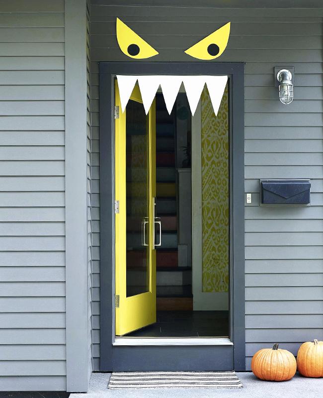 deco porte halloween pinterest monstre