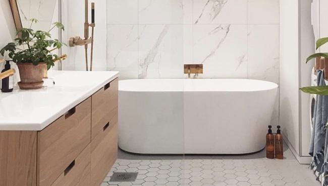 deco salle de bain bois blanc