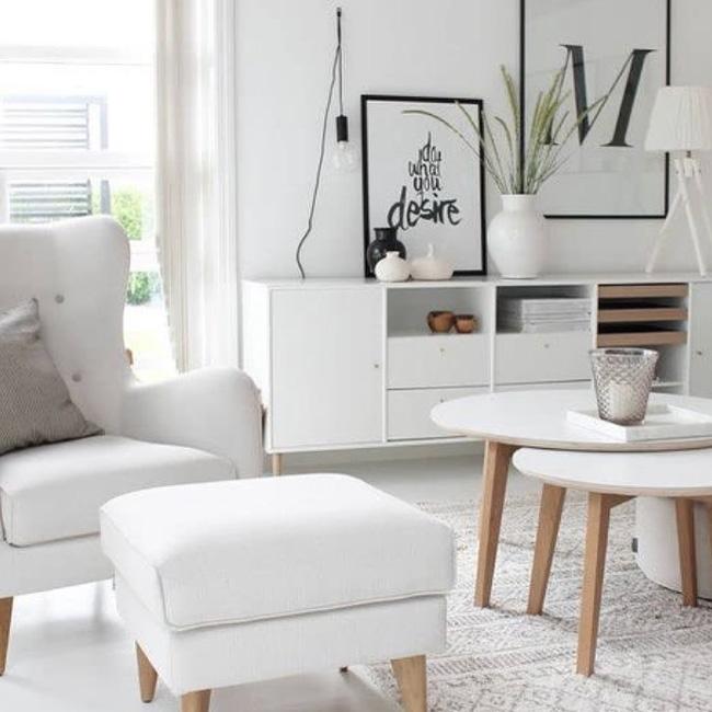 deco salon bois blanc lumineux