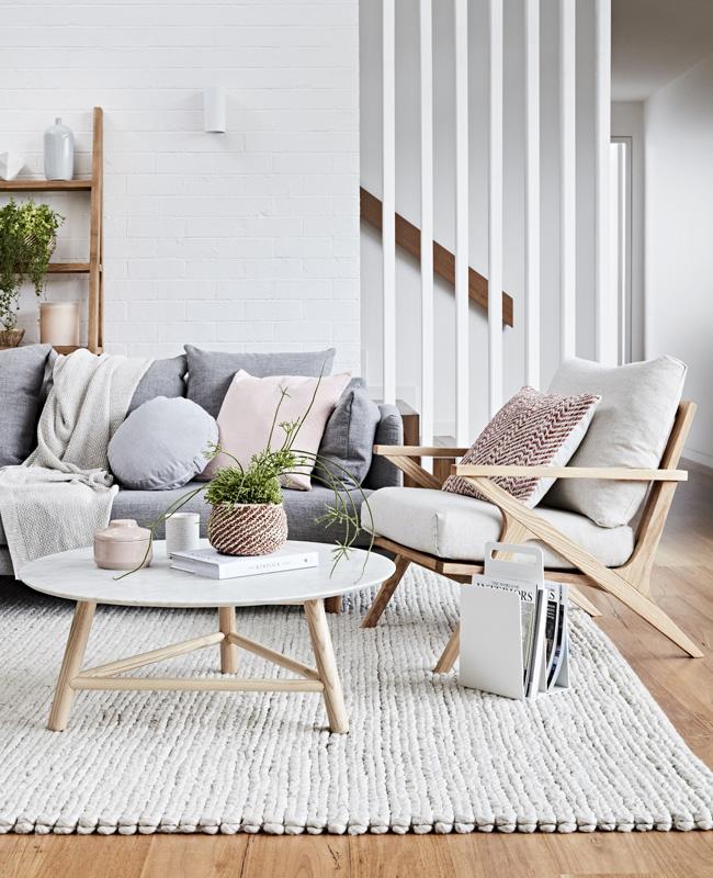 deco salon bois blanc moderne scandinave