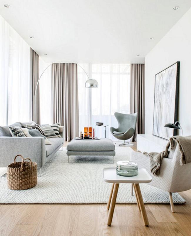 deco salon bois blanc moderne
