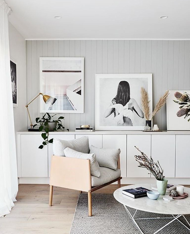 deco salon bois blanc scandinave