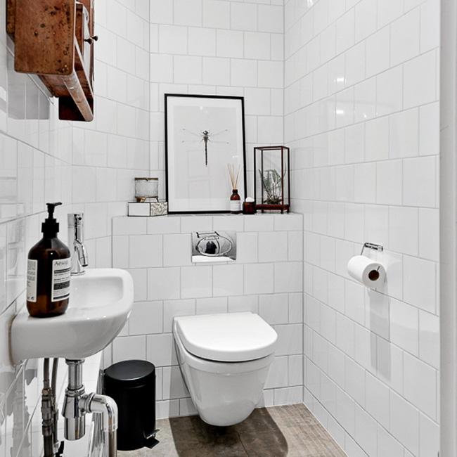 deco toilette wc noir bois moderne scandinave