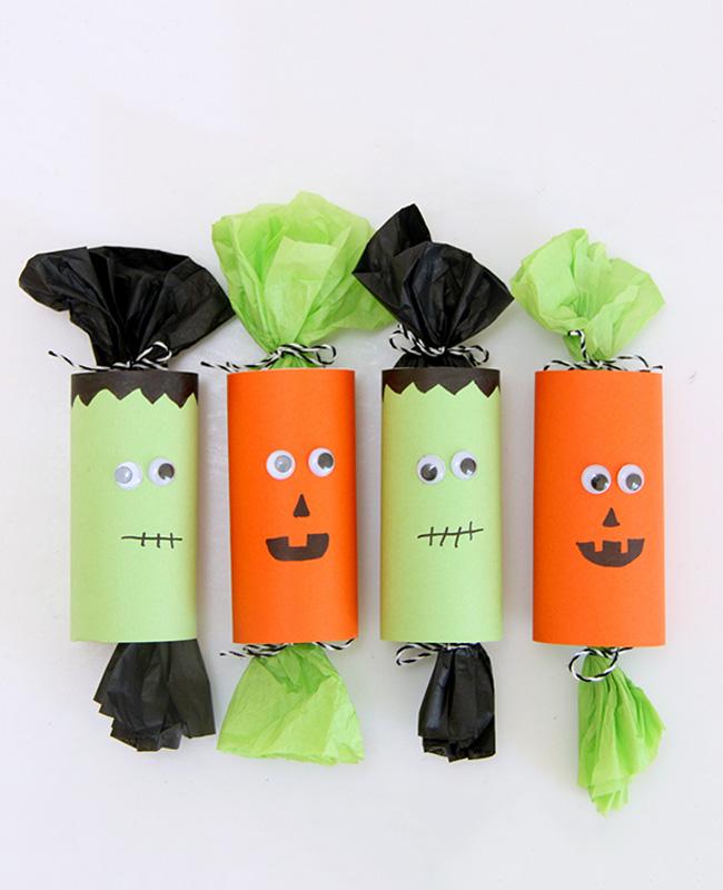 diy halloween boite bonbon rouleau papier toilette wc