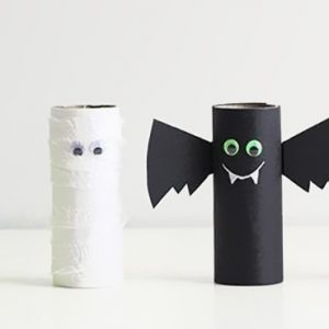diy halloween rouleau papier toilette wc