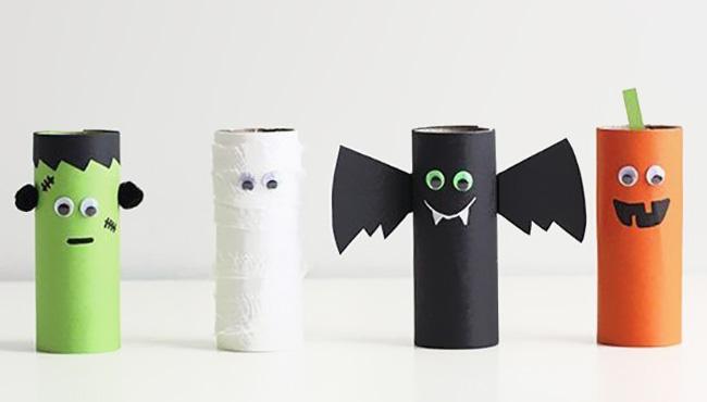 diy halloween rouleau papier toilette wc