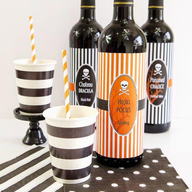 etiquette bouteille vin a imprimer halloween