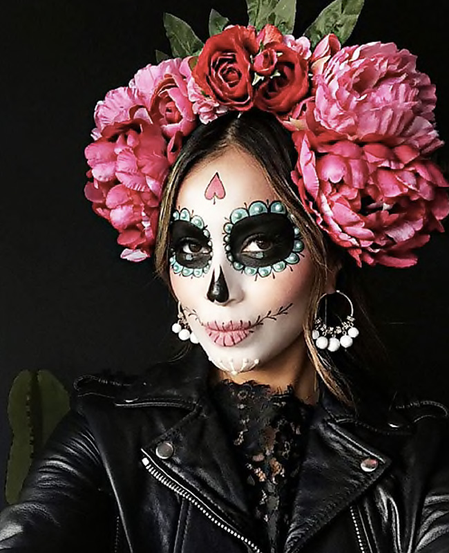 maquillage squelette mexicain femme tuto halloween