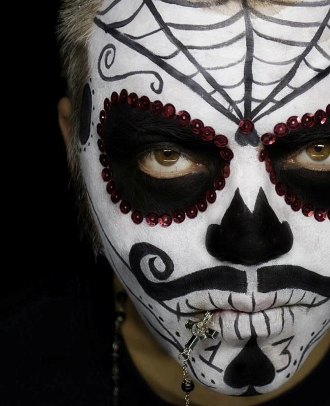 maquillage squelette mexicain homme tuto halloween