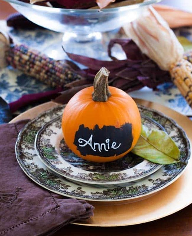 marque place citrouille peinture a tableau halloween
