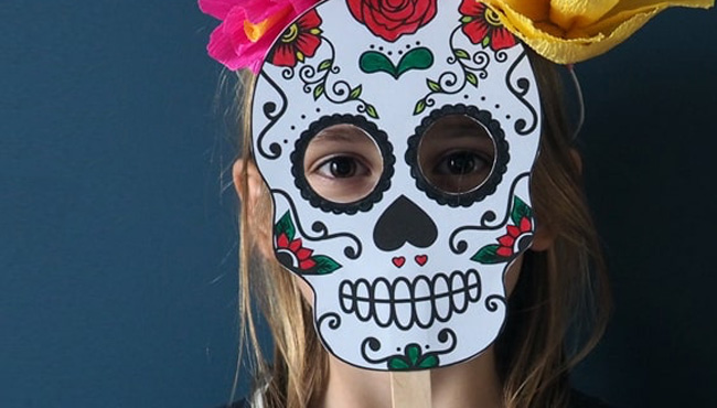 masque a imprimer halloween