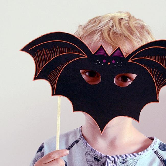 masque chauve souris a imprimer halloween