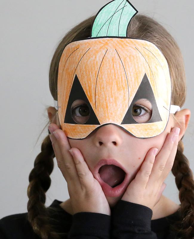 masque citrouille a imprimer halloween