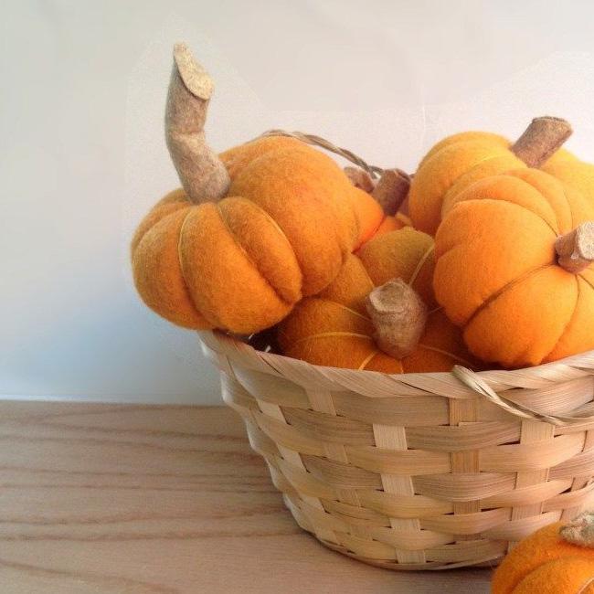 mini citrouille feutrine halloween