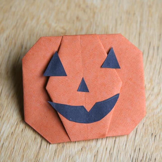 petite citrouille origami halloween diy
