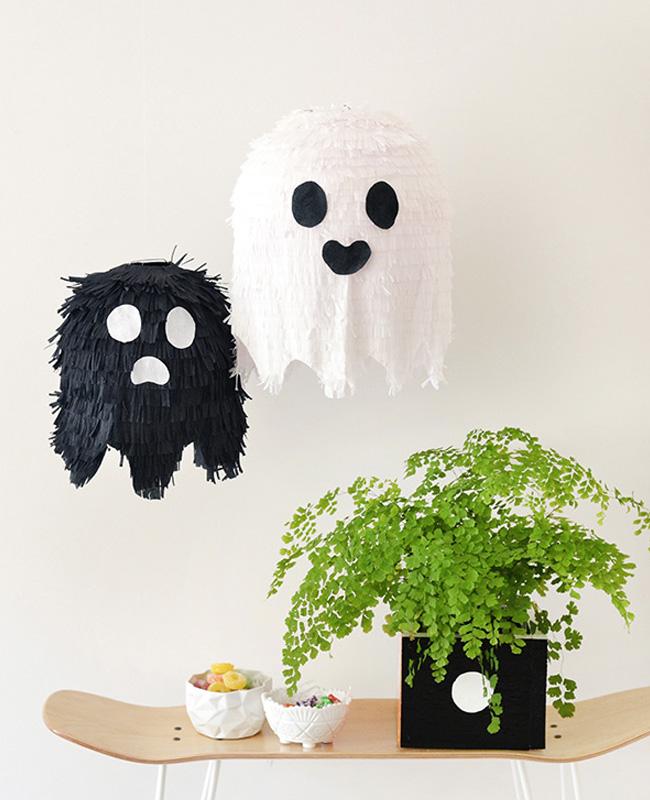pinata fantôme boule papier japonais deco halloween