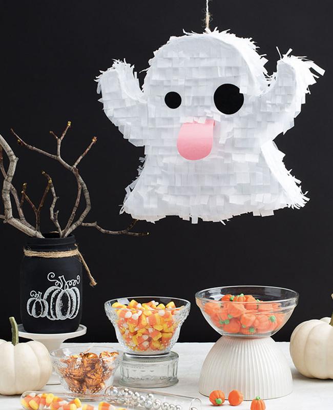 pinata fantôme snapchat papier diy halloween
