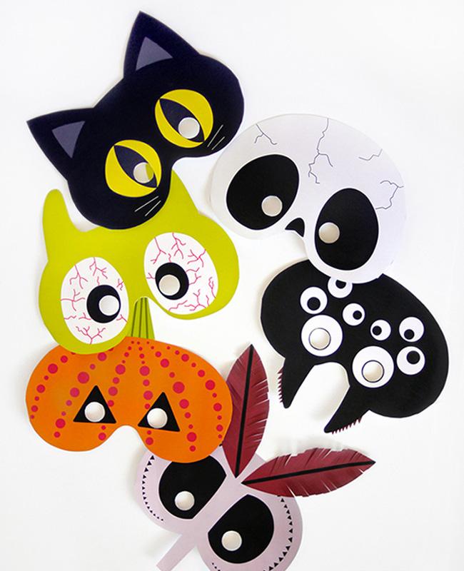 set masque a imprimer halloween