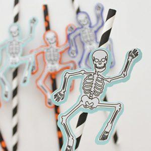 squelette à imprimer halloween