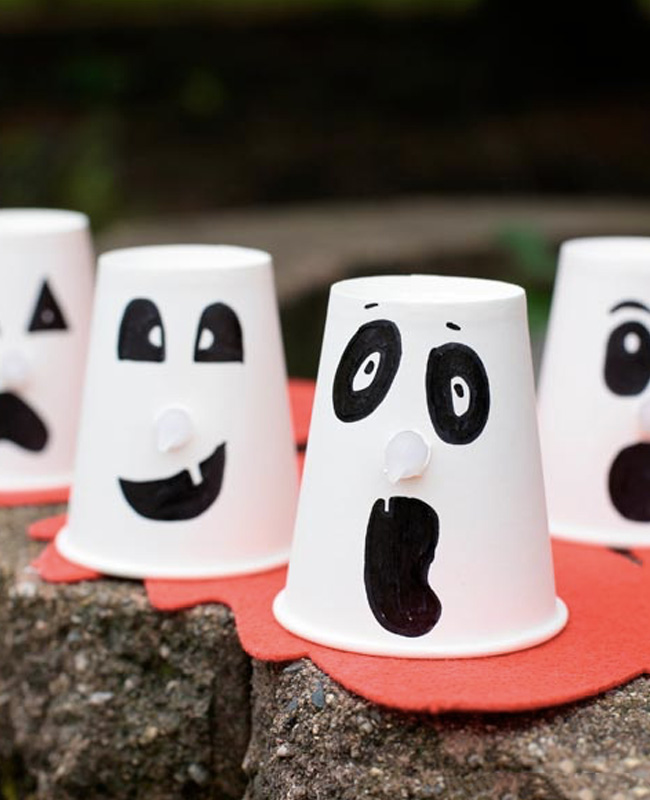verre halloween fantomen lumineux diy