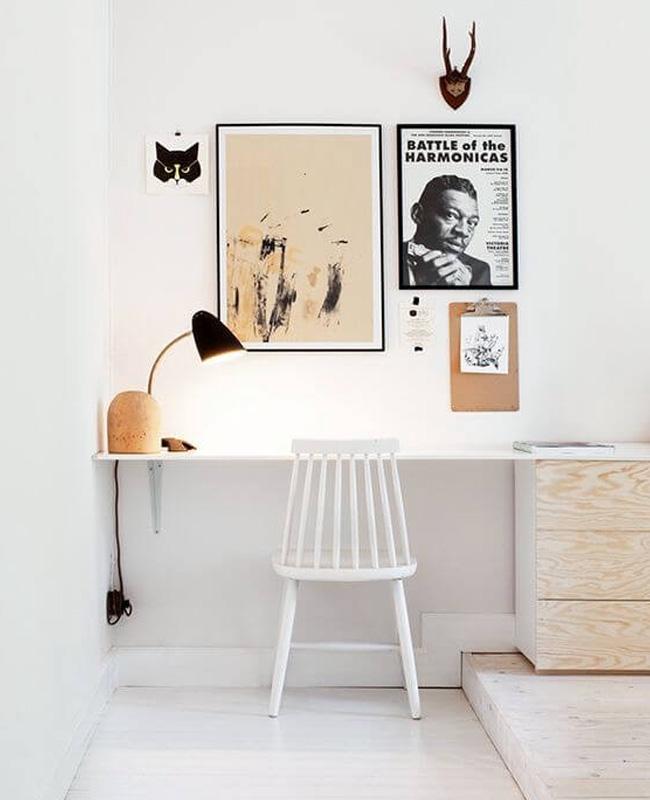 deco bureau scandinave pinterest blanc bois