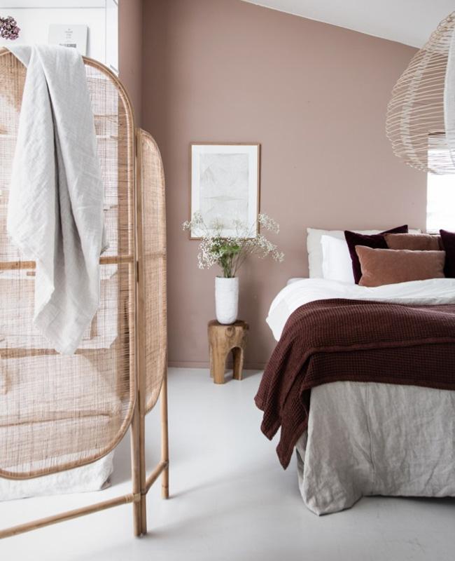 deco chambre adulte gris rose nuance